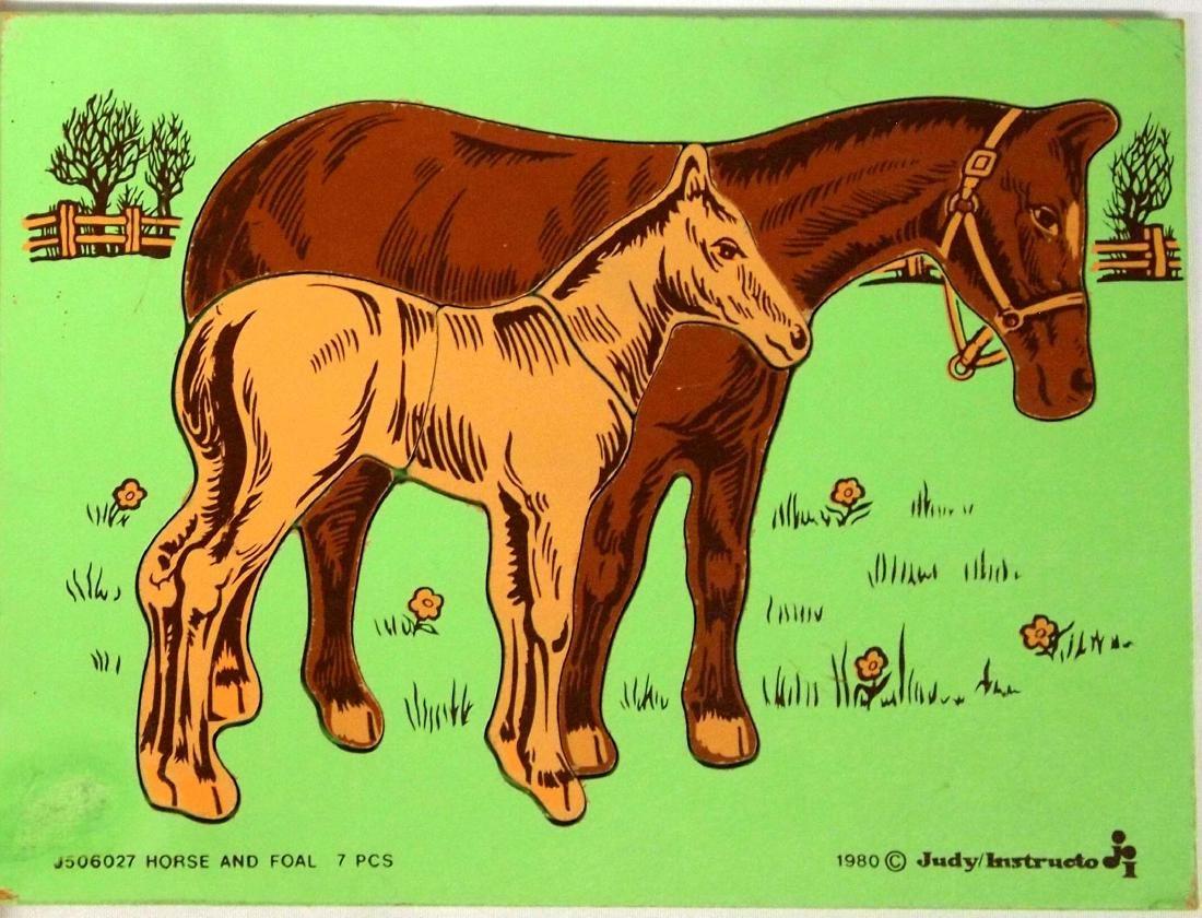 2 Vintage Children's Wood Puzzles - 2