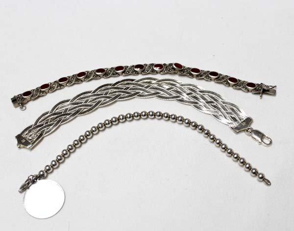 3 Sterling Silver Bracelets