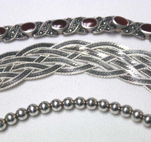 3 Sterling Silver Bracelets - 2