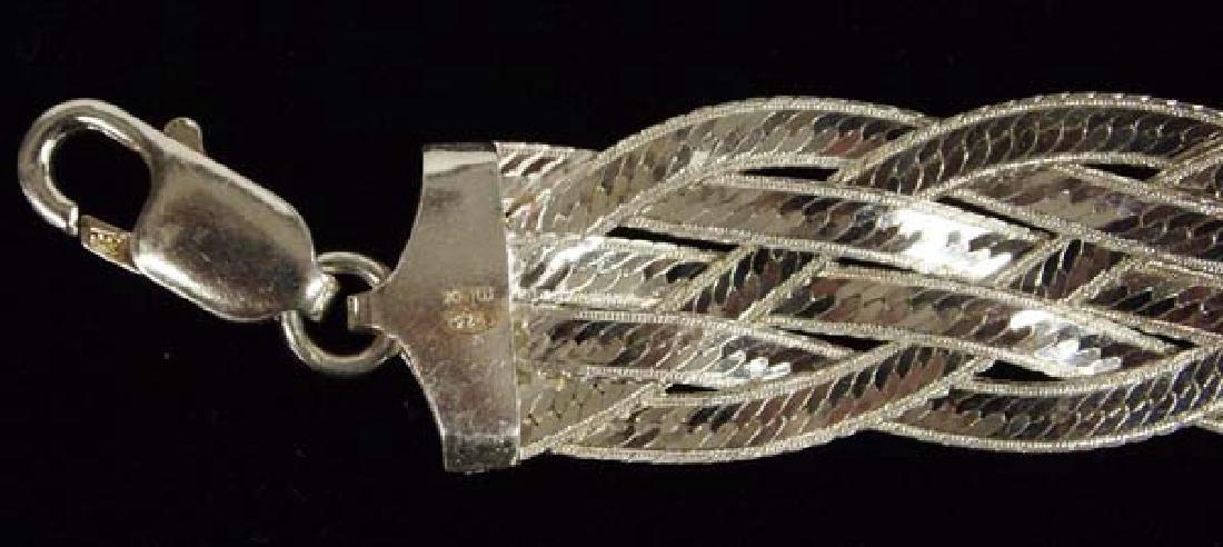3 Sterling Silver Bracelets - 3