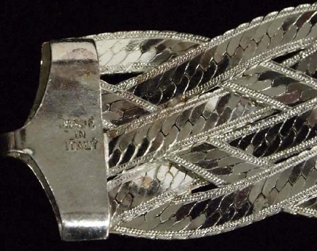 3 Sterling Silver Bracelets - 5