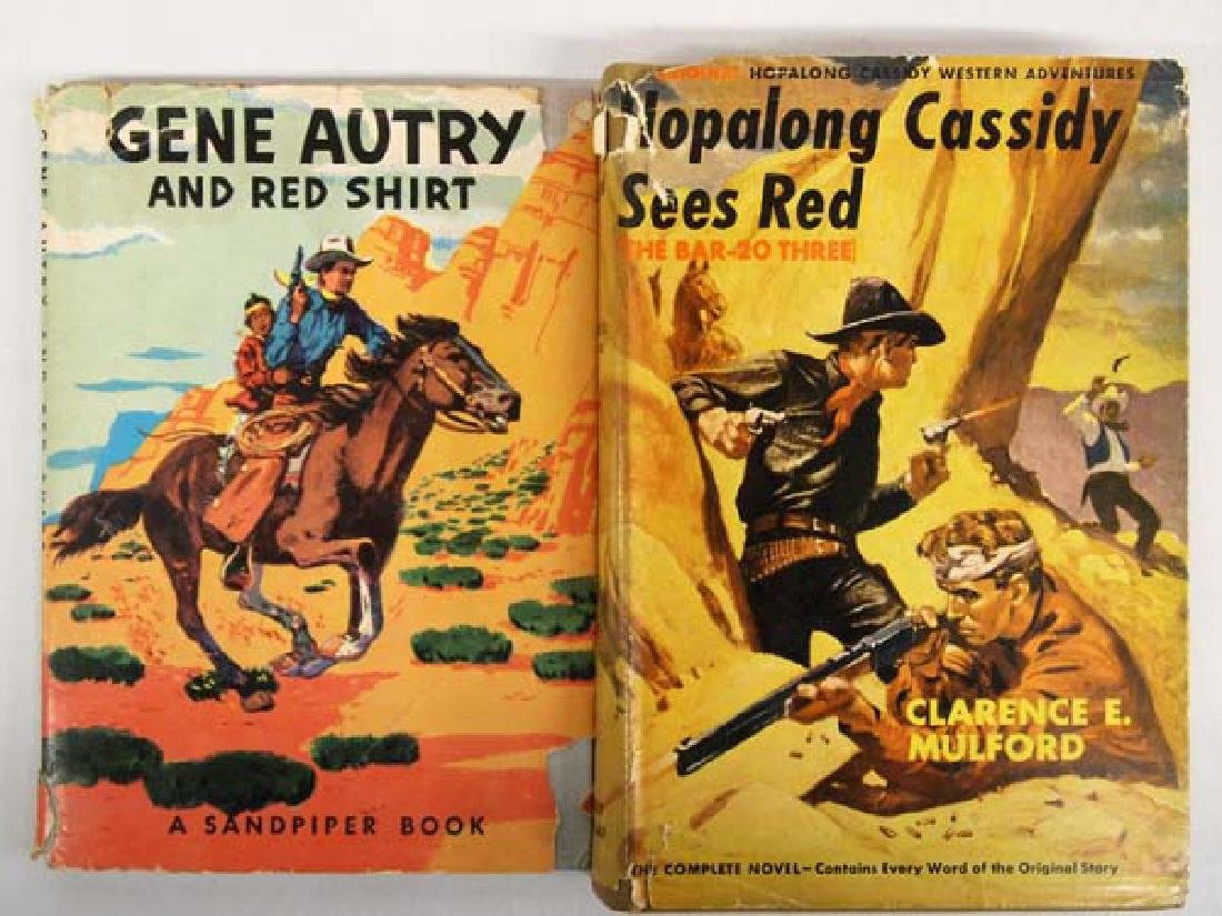2 Vintage Cowboy Western Books