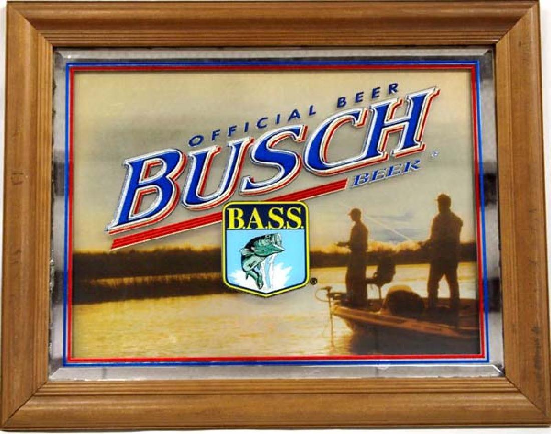 Official Busch Beer Bass Masters Framed Mirror