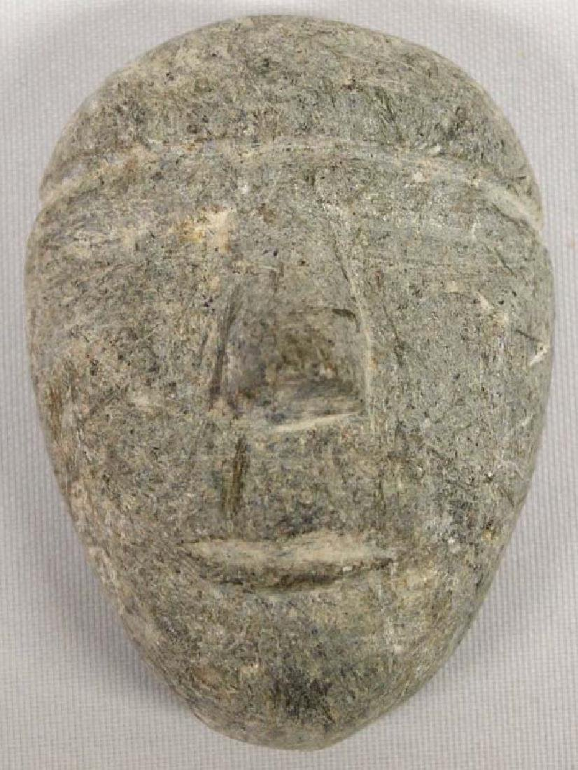 Native American Canadian Inuit Carved Stone Mask