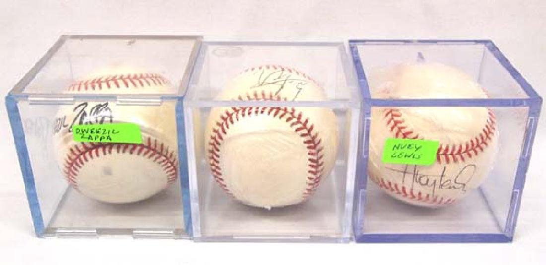 3 Signed Rawlings Baseballs by Rock Stars