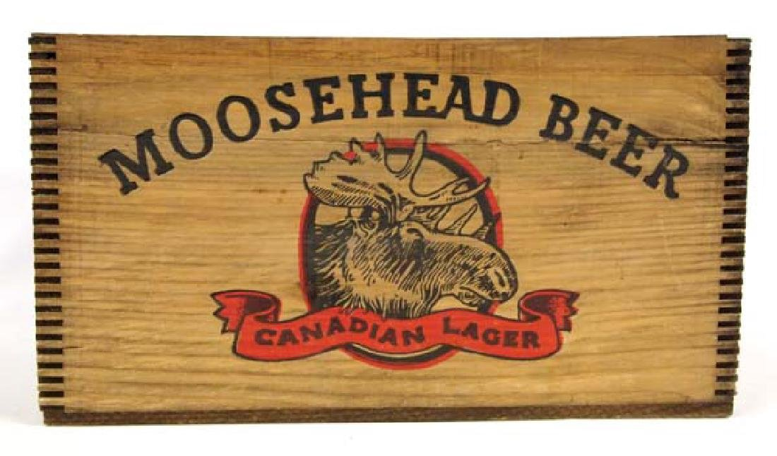 Vintage Moosehead Beer Wood Box