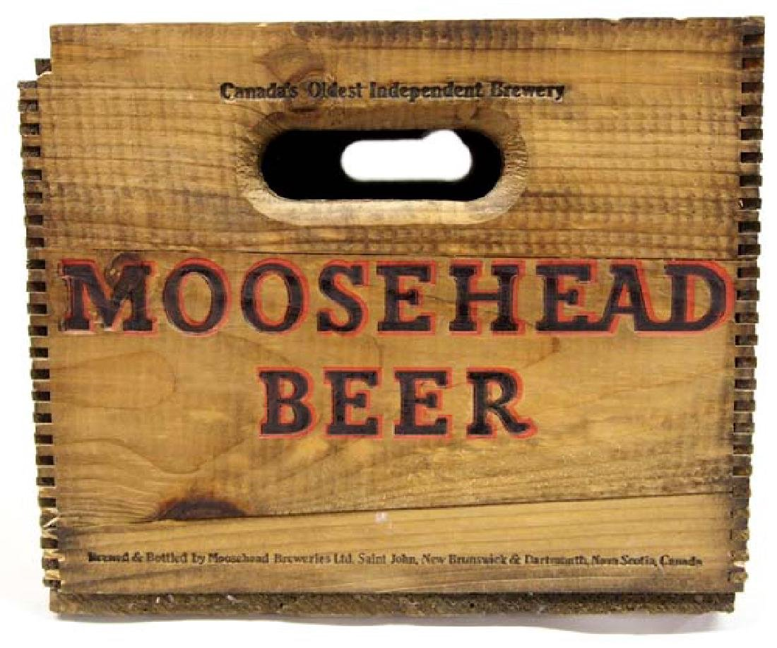 Vintage Moosehead Beer Wood Box - 2