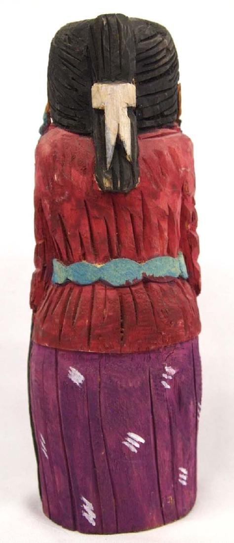 Navajo Carved Wood Folk Art Woman Figure - 3