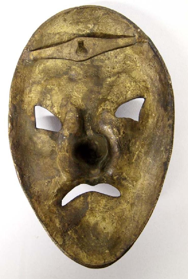 Ornate Asian Bronze Mask - 2