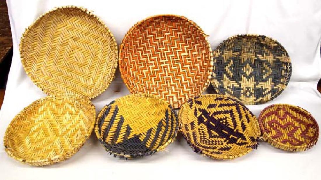 7 Native American Hopi Sifter Baskets