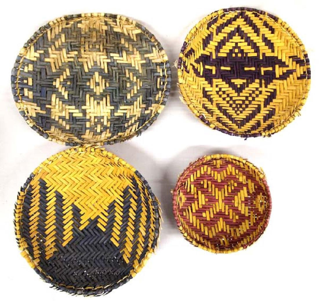 7 Native American Hopi Sifter Baskets - 2