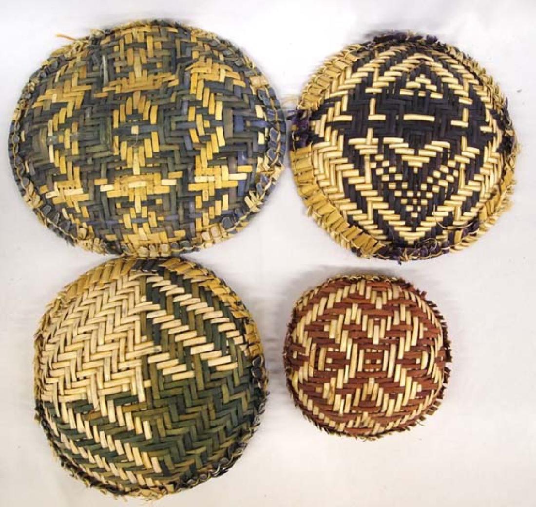 7 Native American Hopi Sifter Baskets - 3