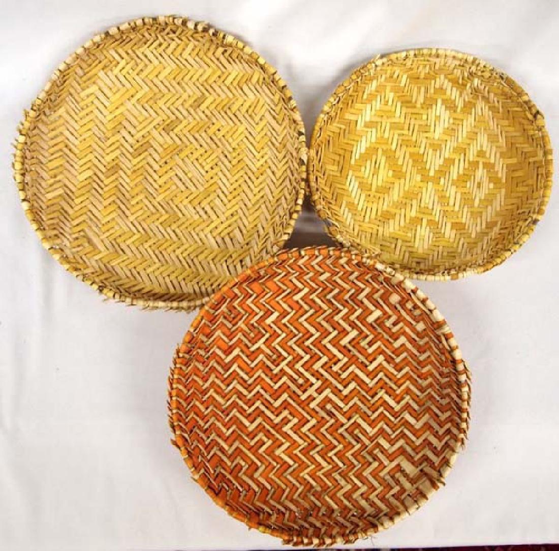 7 Native American Hopi Sifter Baskets - 4