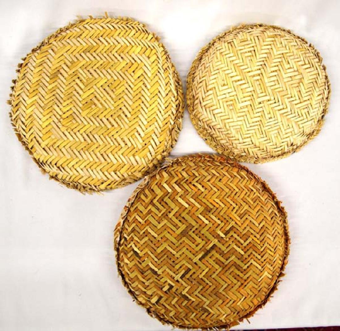 7 Native American Hopi Sifter Baskets - 5