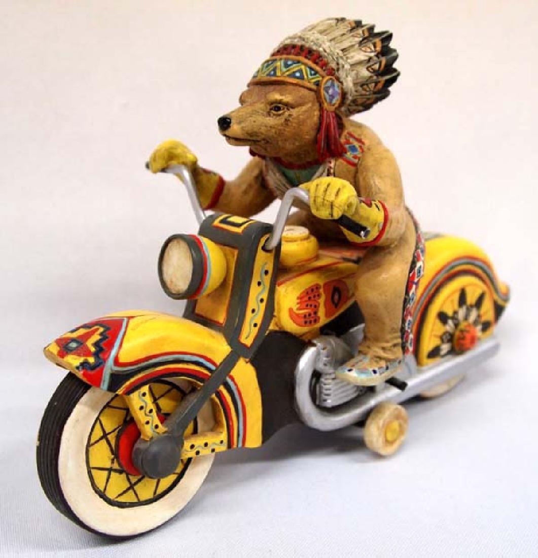 Chief Riding Bear Figurine by Robert Shields