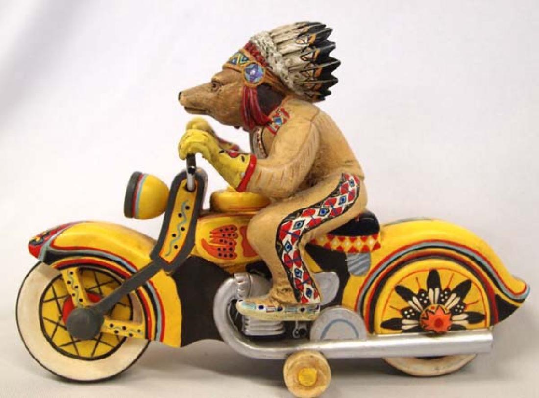 Chief Riding Bear Figurine by Robert Shields - 2