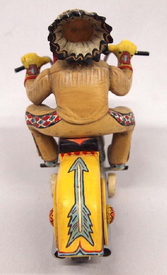 Chief Riding Bear Figurine by Robert Shields - 3
