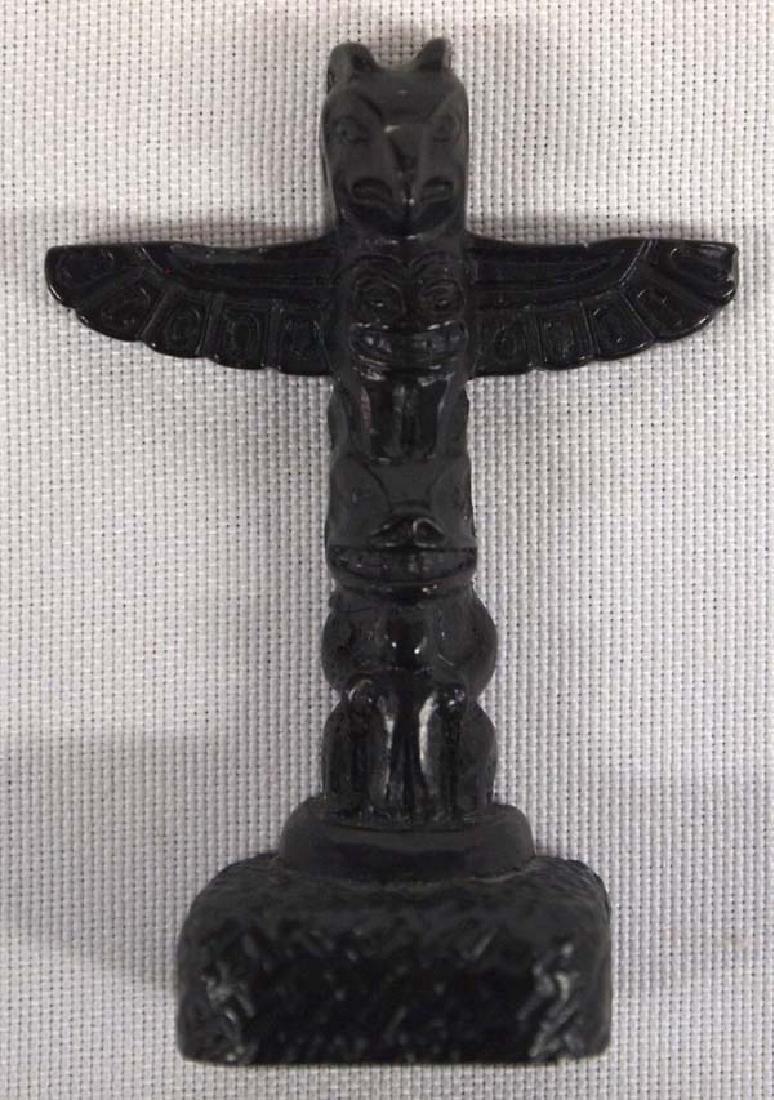 Northwest Coast Miniature Carved Wood Totem Pole