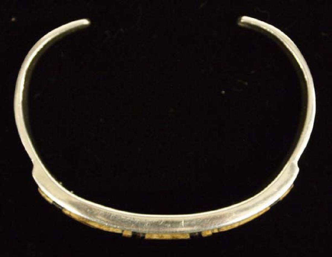 Navajo Sterling Petrified Bone Bracelet by C Begay - 4
