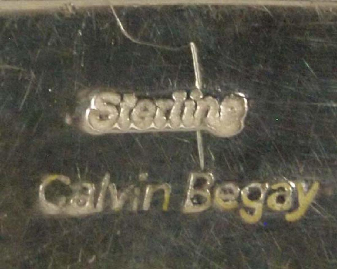 Navajo Sterling Petrified Bone Bracelet by C Begay - 5