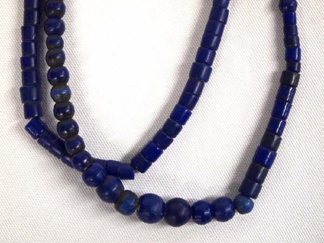 2 Strands of Vintage Cobalt Blue Trade Beads