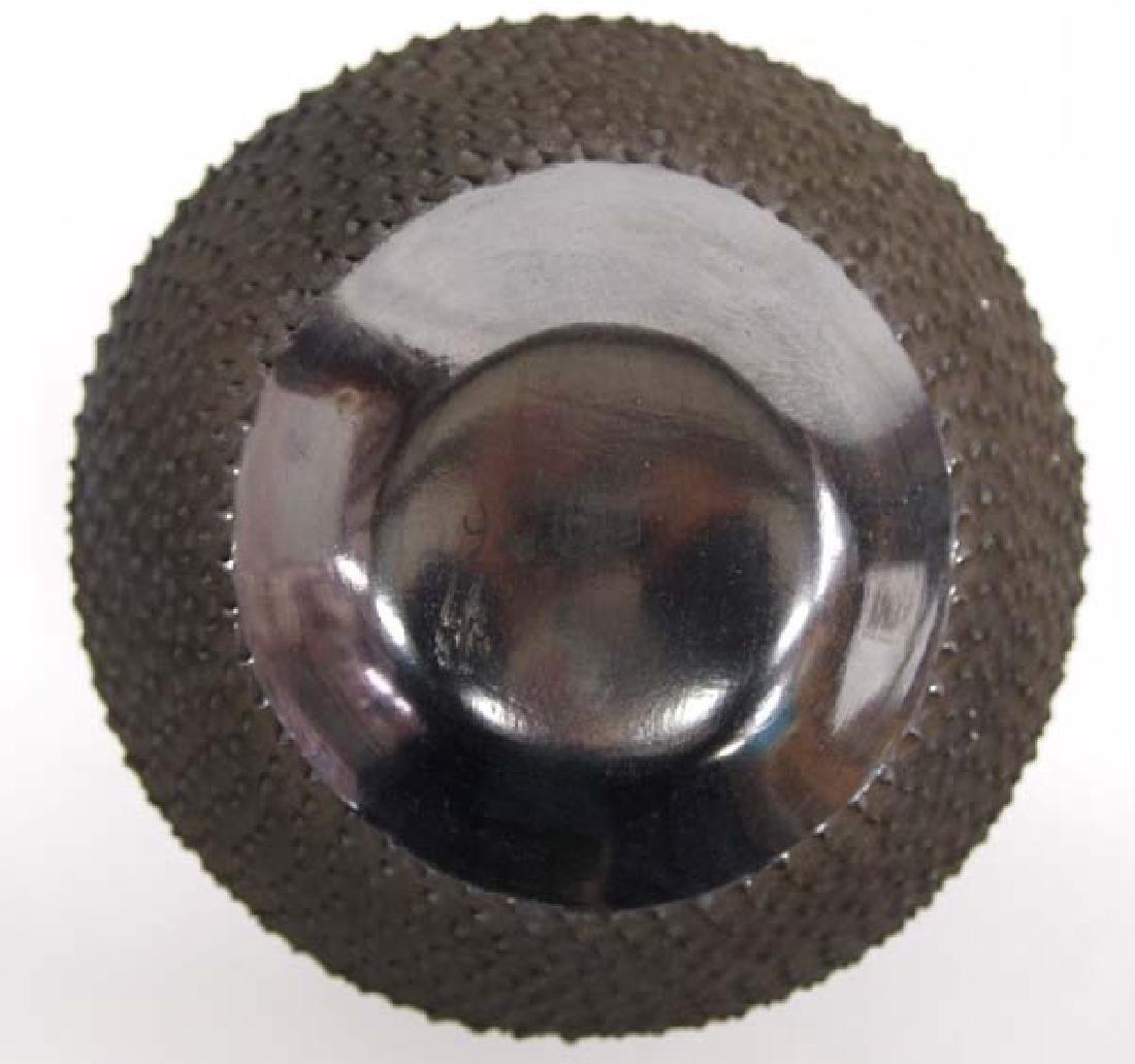 Mexican Mata Ortiz Black on Black Geometric Jar - 3