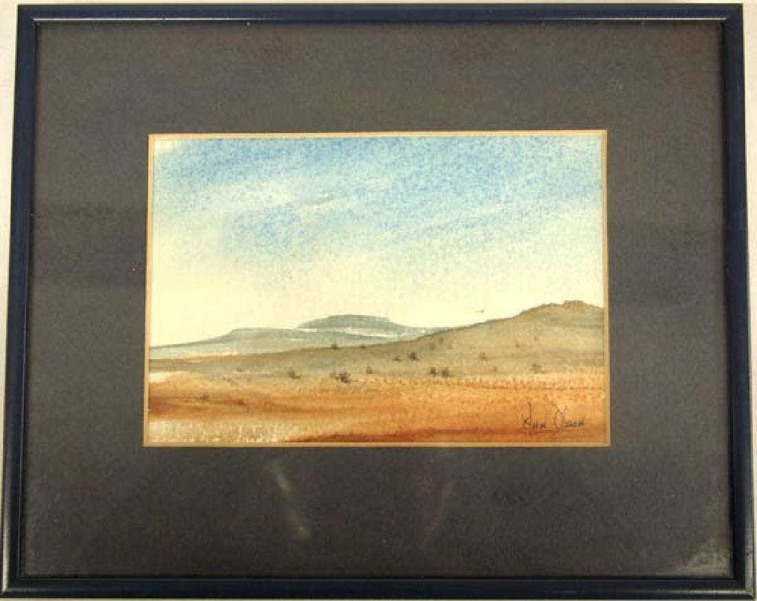 Original Desert Scene Watercolor by H.H. Olson