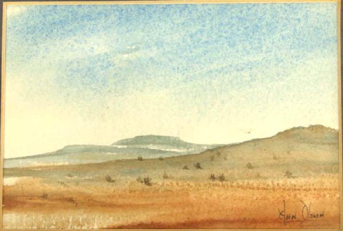 Original Desert Scene Watercolor by H.H. Olson - 2