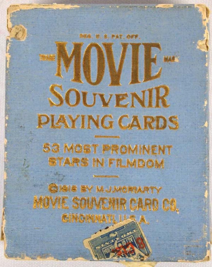 1916 MJ Moriarty Movie Souvenir Playing Cards