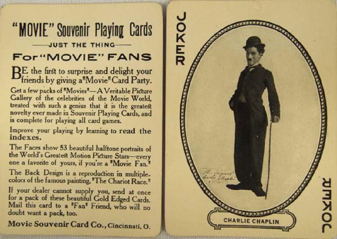 1916 MJ Moriarty Movie Souvenir Playing Cards - 3