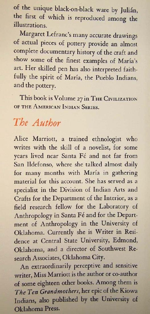 Maria: The Potter of San Ildefonso, Alice Marriott - 4