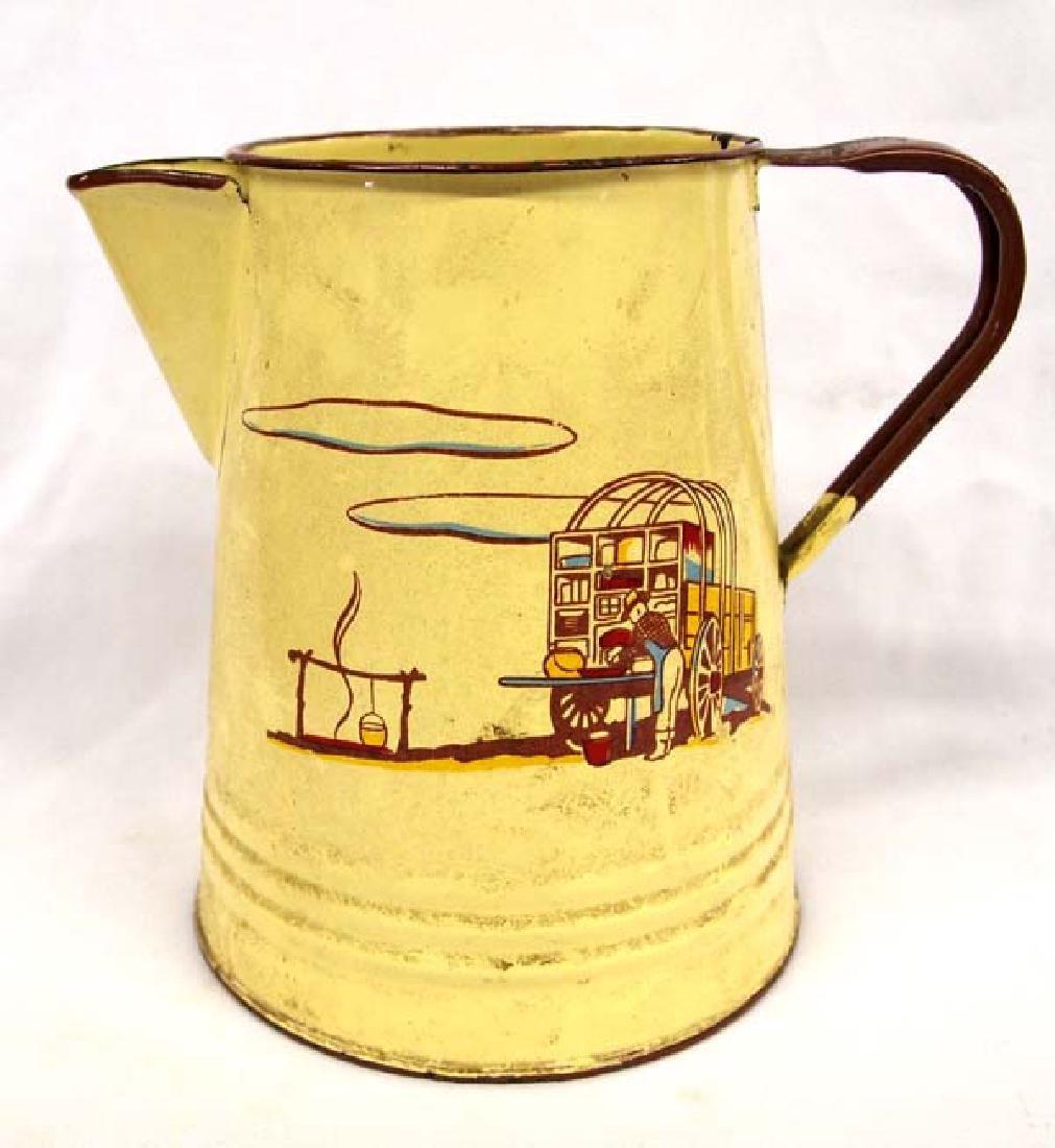 Vintage Monterrey Western Ware Tin Coffee Pot