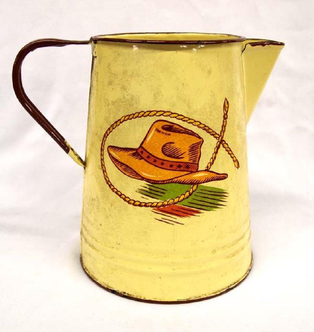 Vintage Monterrey Western Ware Tin Coffee Pot - 2