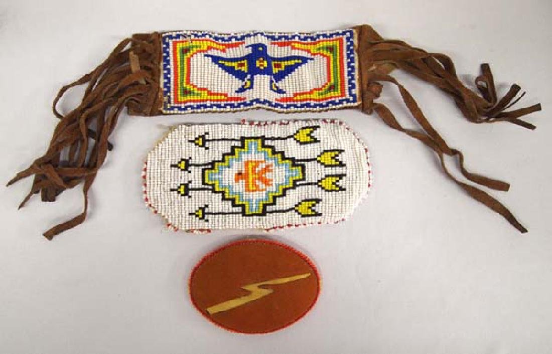 Navajo Beaded Pouch, Armband, and Buckle