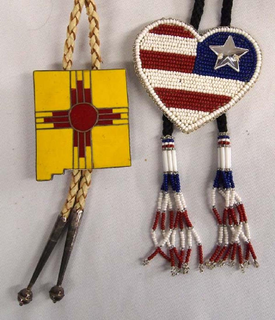 2 Bolo Ties, 1 Patriotic and 1 New Mexico