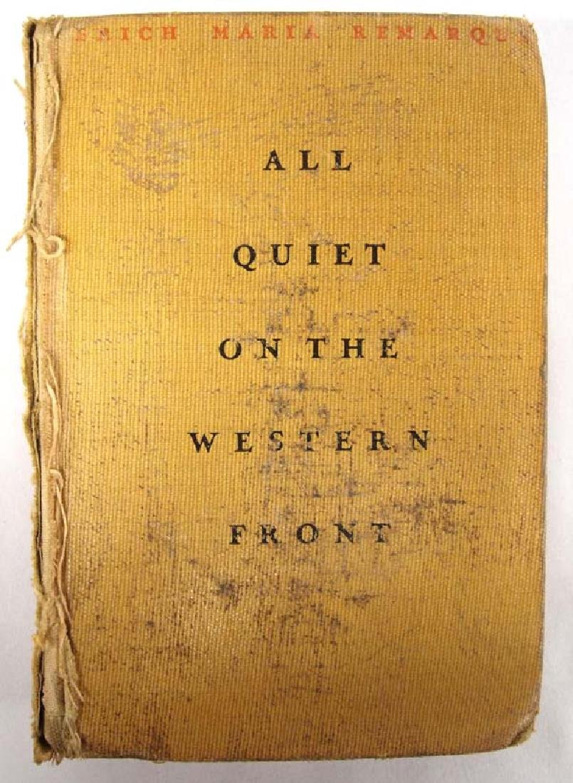 1929 First Print All Quiet on the Western Front
