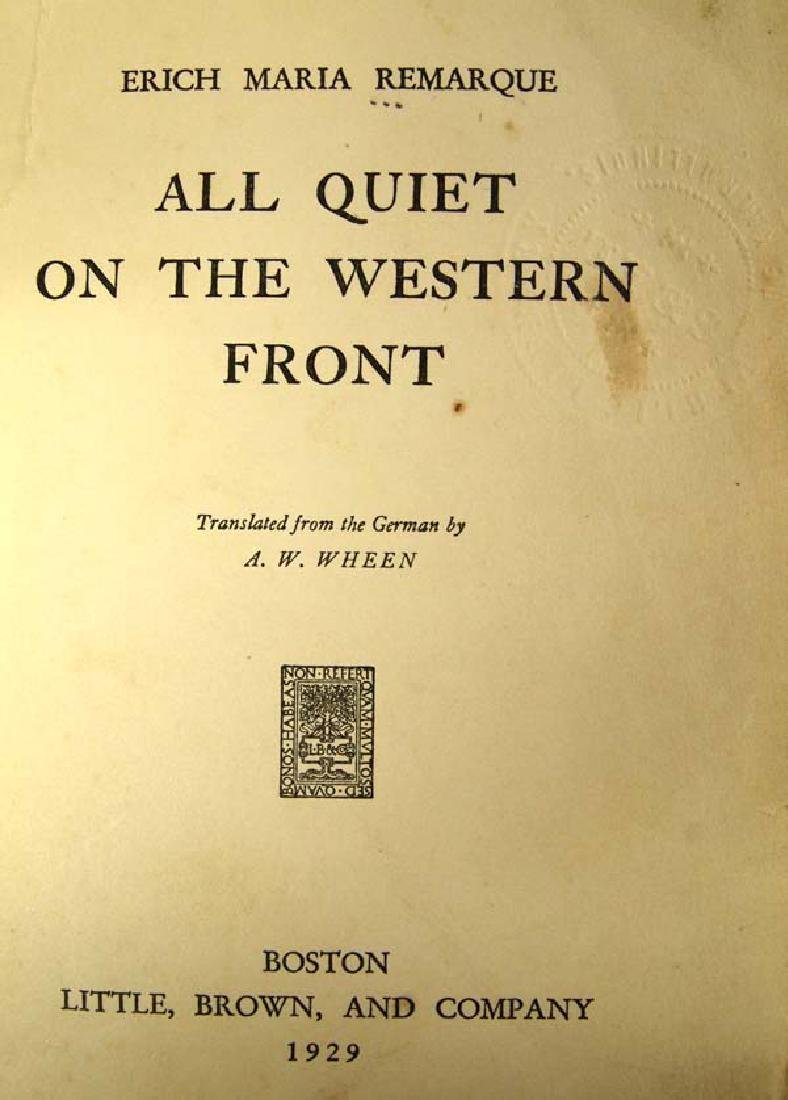 1929 First Print All Quiet on the Western Front - 2