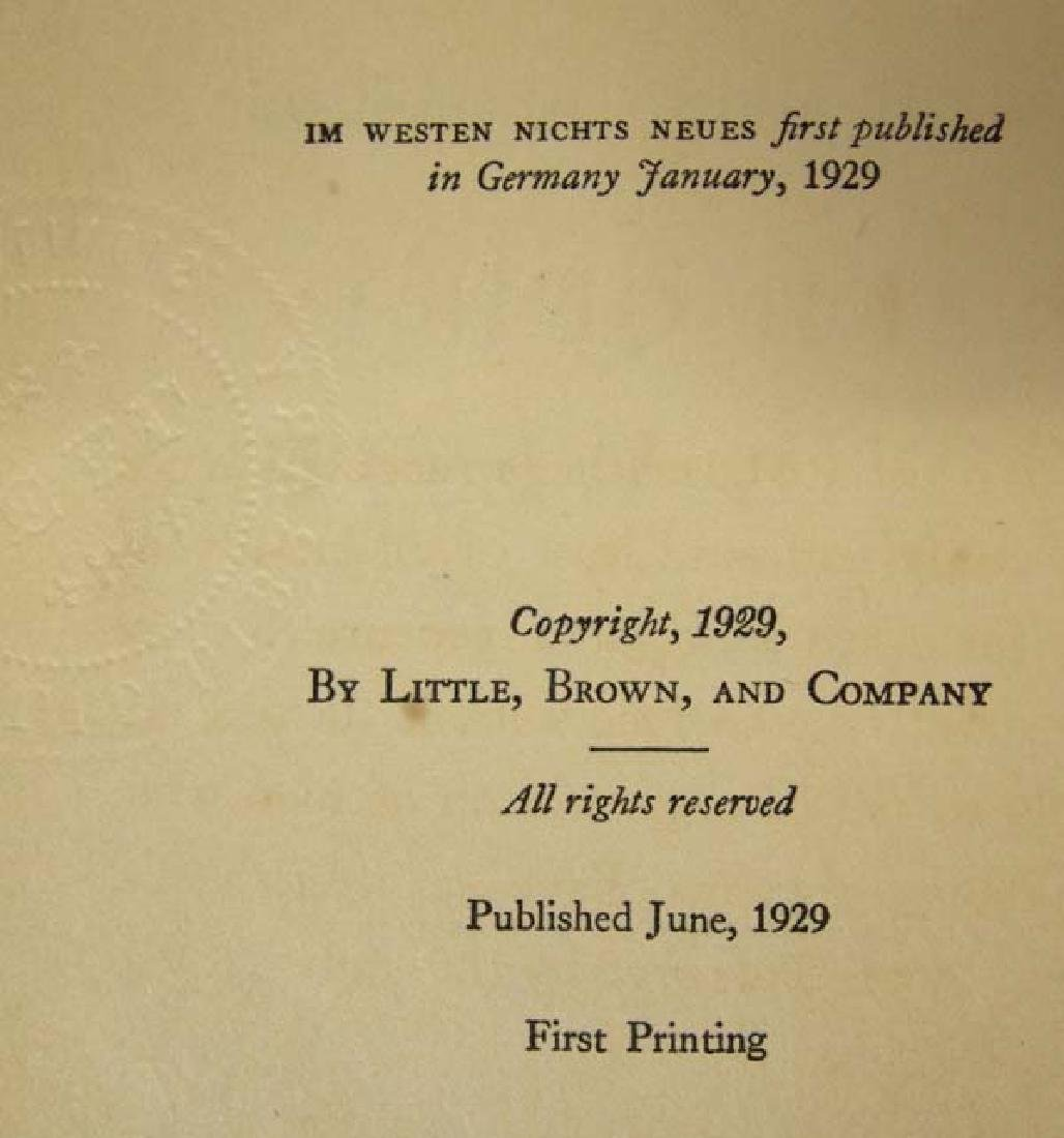 1929 First Print All Quiet on the Western Front - 3