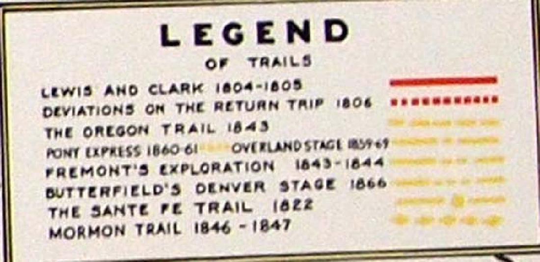 Oregon Historical Society Lewis & Clark Trail Map - 2