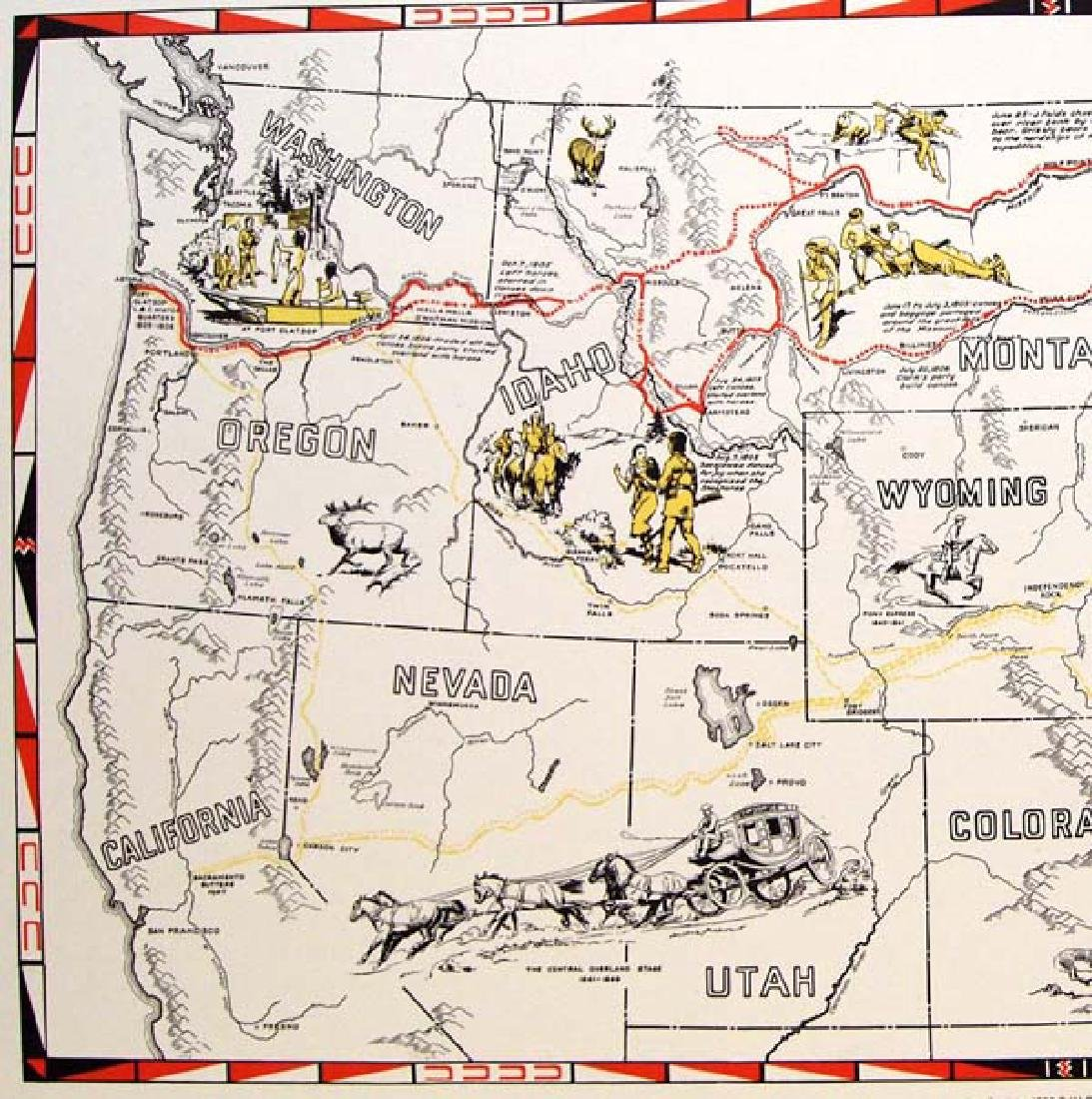 Oregon Historical Society Lewis & Clark Trail Map - 4