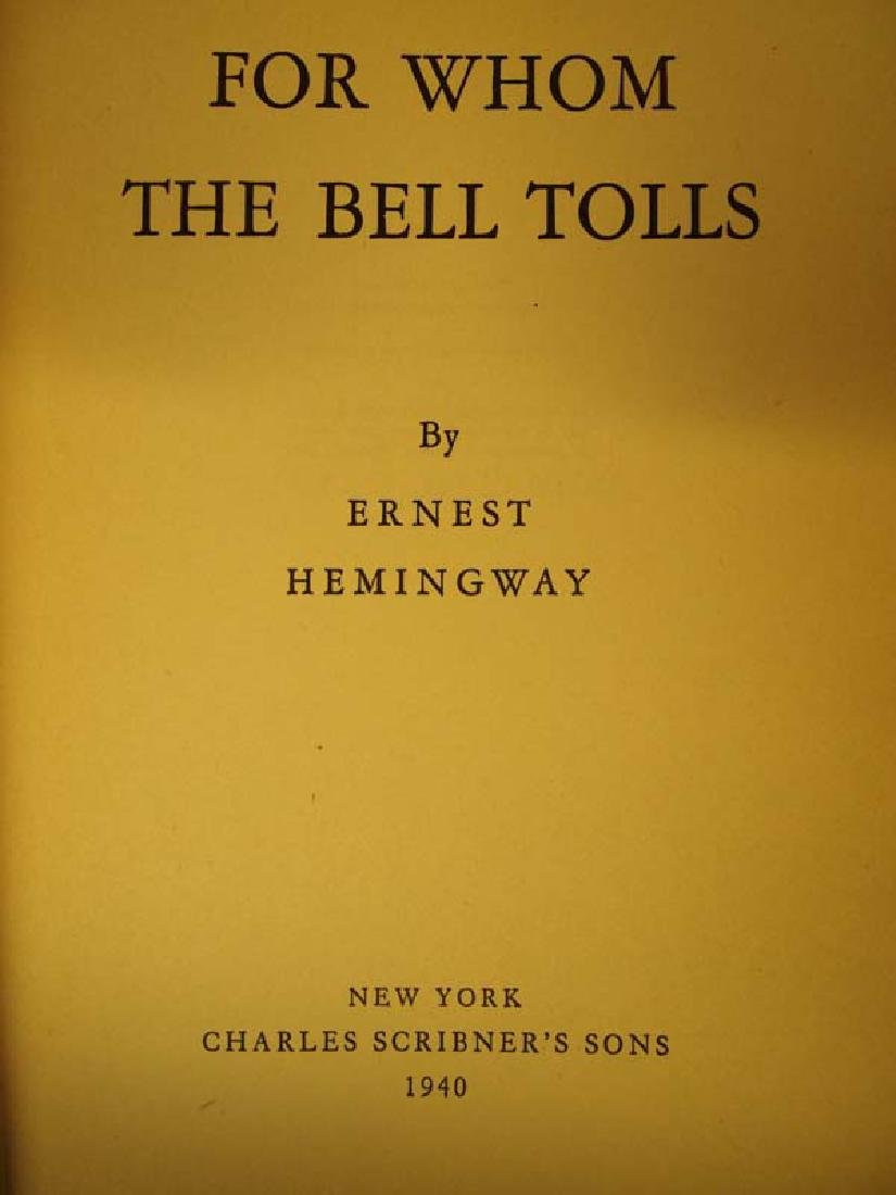 1st Edition For Whom the Bell Tolls by Hemingway - 2