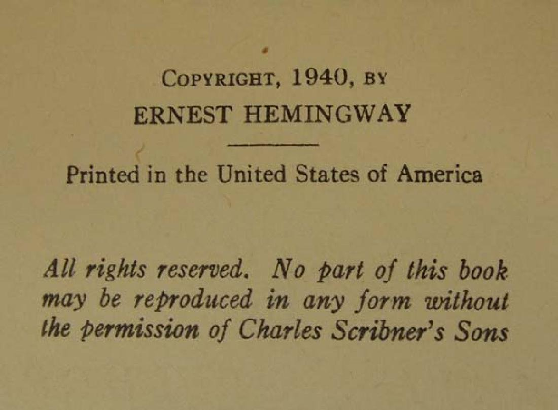 1st Edition For Whom the Bell Tolls by Hemingway - 4