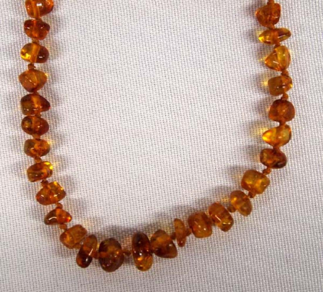 Cici's Genuine Baltic Amber Nugget Choker