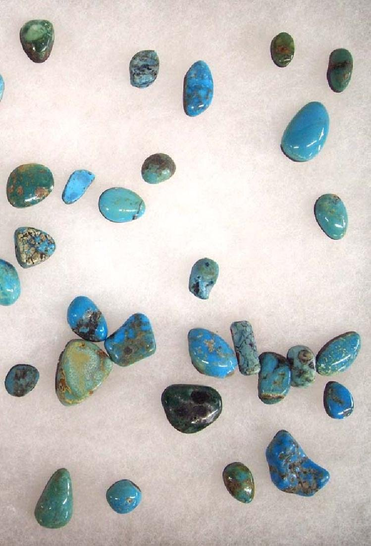 Display of Turquoise Cabochons - 2