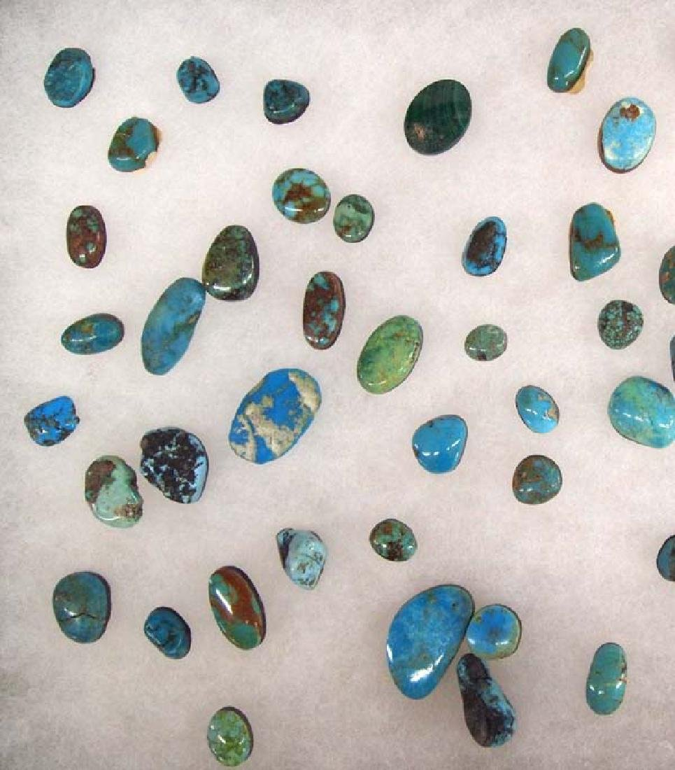 Display of Turquoise Cabochons - 3
