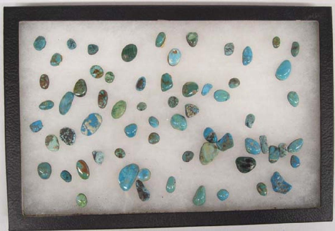 Display of Turquoise Cabochons - 4