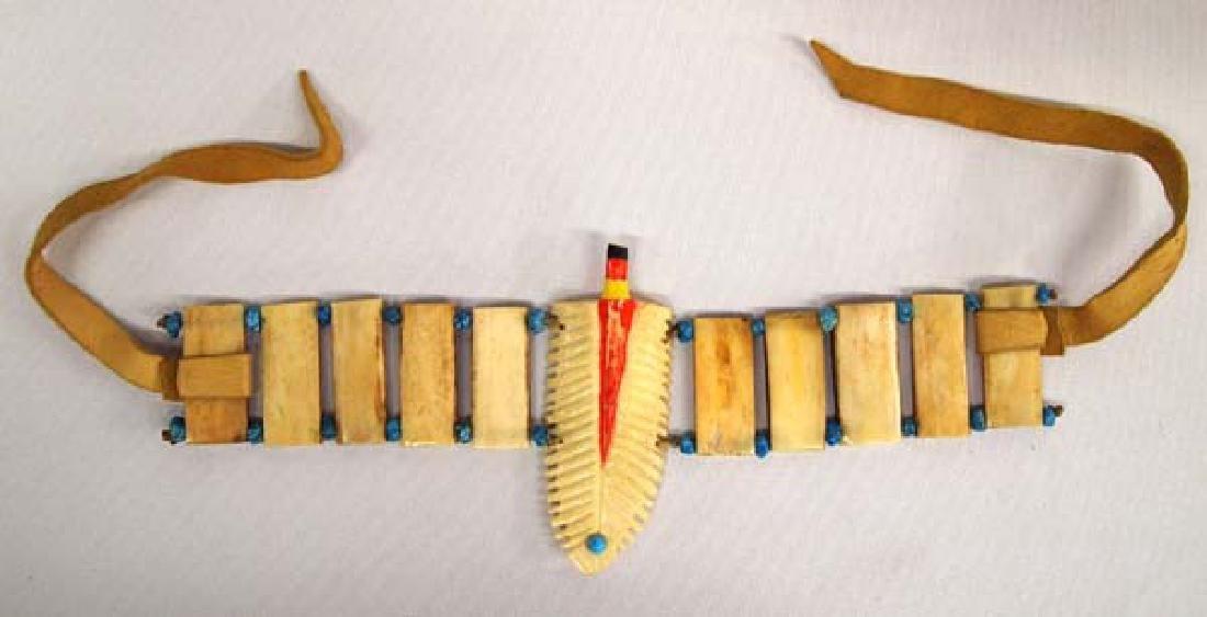 Unusual Carved Bone Bracelet