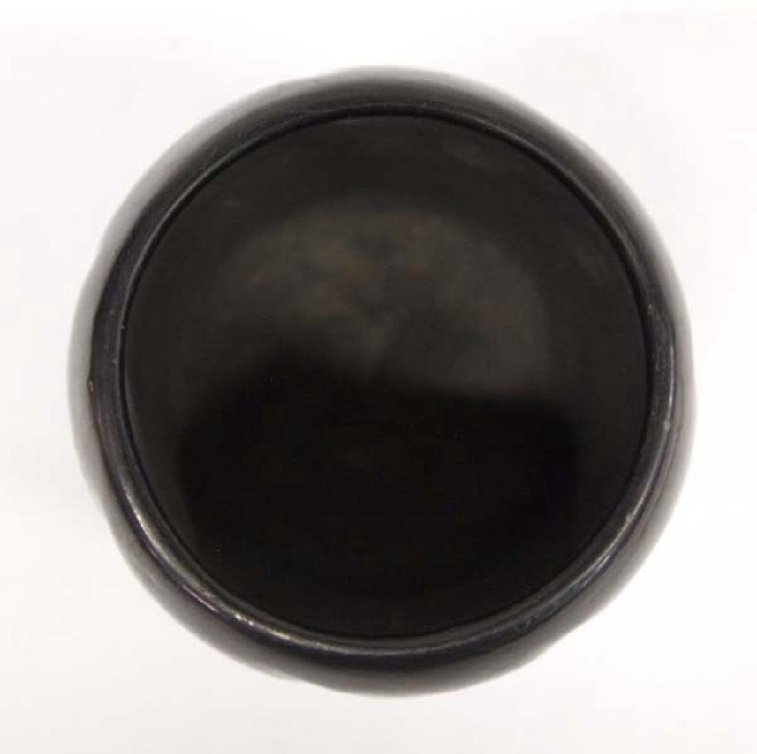 Native American Santa Clara Pottery Melon Jar - 2
