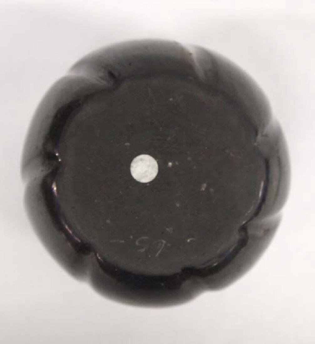 Native American Santa Clara Pottery Melon Jar - 3