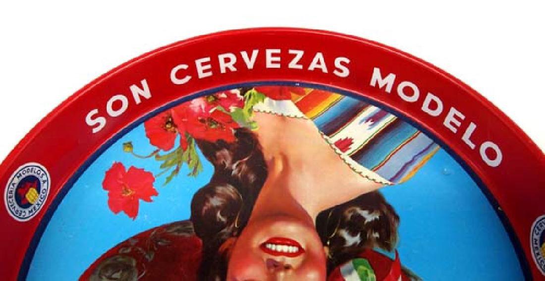 Original Mexican Corona Extra Metal Cerveza Tray - 2